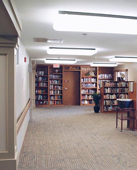 assisted-living-center-library-design